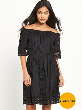 miss-selfridge-black-bardot-lace-dress