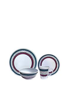 streetwize-accessories-honeycomb-melamine-16-piece-dinner-set