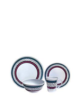 streetwize-accessories-honeycomb-melamine-16-piece-dinner-set