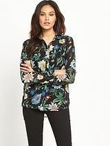 WAREHOUSE BOTANICAL PRINT BLOUSE