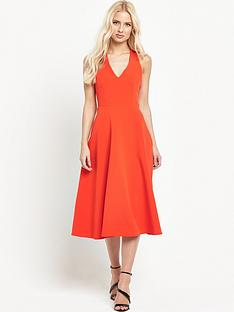 warehouse-cross-back-v-neck-dress