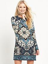 Tapestry Print Shift Dress