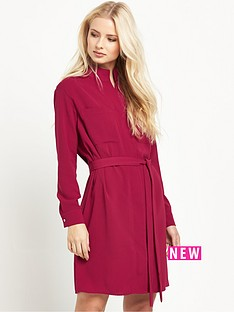 warehouse-zip-front-shirt-dress
