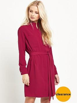warehouse-zip-front-shirt-dress