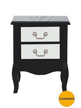 new-elyseenbsp2-drawer-bedside-cabinet-mirrored-front