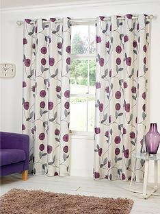dandelion-printed-eyelet-curtains