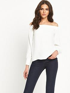 warehouse-off-shoulder-bardot-top-with-long-sleeves