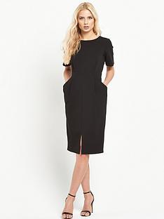 warehouse-split-front-pencil-dress