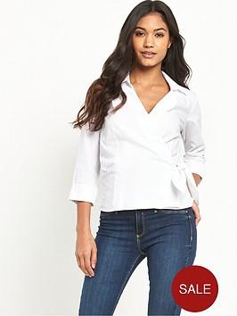 warehouse-wrap-tie-side-shirt