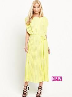 warehouse-pleated-midi-dress