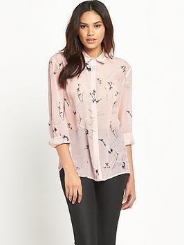 warehouse-bird-print-silk-shirt