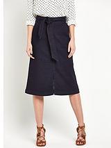 Midi Tie Waist Skirt