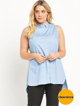 alice-you-alice-amp-you-sleeveless-maxi-side-split-shirt