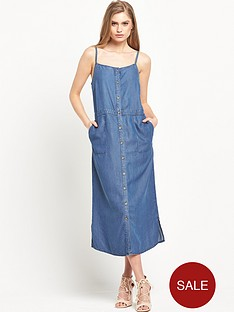 warehouse-strappy-button-through-column-dress