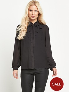 warehouse-ruffle-front-blouse