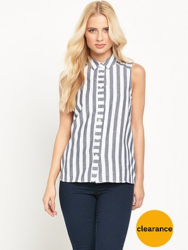warehouse-sleeveless-stripe-shirtnbsp