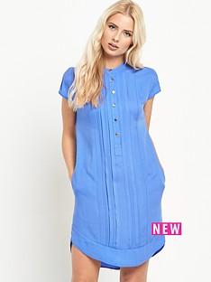 warehouse-warehouse-collarless-pintuck-dress
