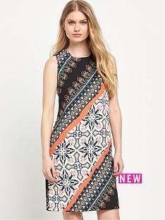 warehouse-latina-striped-printed-shift-dress