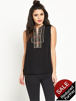 warehouse-embellished-zip-front-shell-topnbsp