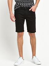 Skinny Stretch Denim Shorts