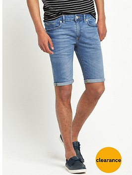 river-island-skinny-stretch-denim-shorts