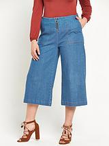 Zip Front Wide Leg Culotte