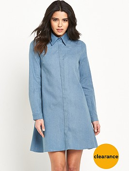 glamorous-long-sleeve-shirt-dress