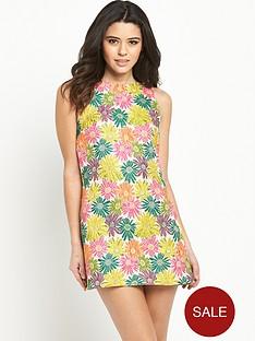 glamorous-jacquard-shift-dress