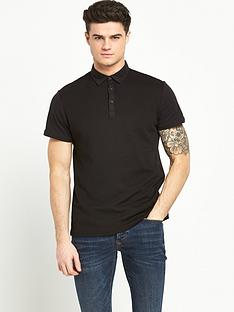 river-island-textured-short-sleeved-polo-shirt