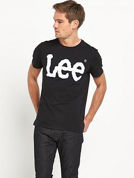 lee-logo-t-shirt-black