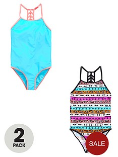 v-by-very-girls-aztec-swimsuits-2-pack