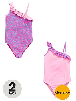 v-by-very-girls-ruffle-shoulder-swimsuits-2-pack