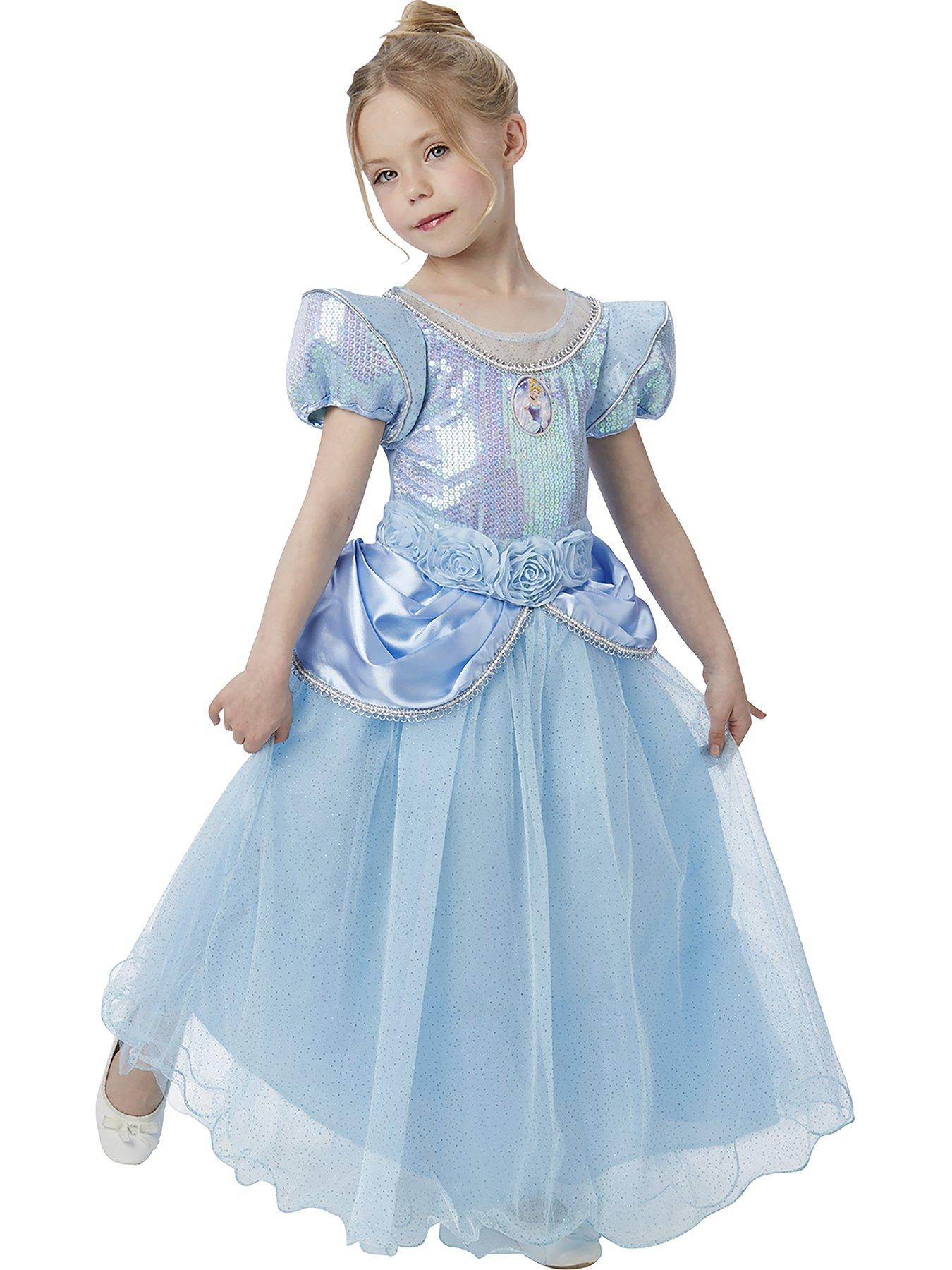 Cinderella Costume Kids Princess Halloween Fancy Dress