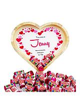 Personalised Chocolate Heart Tray