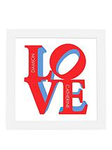 Personalised LOVE Framed Print
