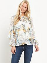 Frill Long Sleeve Blouse