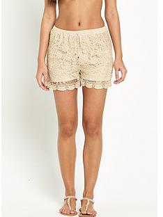 v-by-very-metallic-crochet-shorts