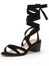 Miss Selfridge Wrap Block Heel Sandal