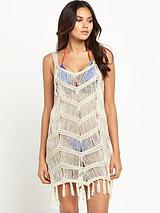 Crochet Tassel Beach Vest Dress