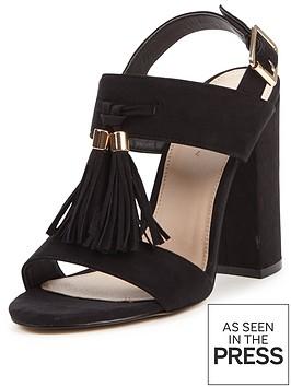 v-by-very-pine-block-heel-tassel-front-sandals