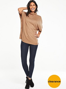 v-by-very-cowl-neck-button-side-slouchy-tunic