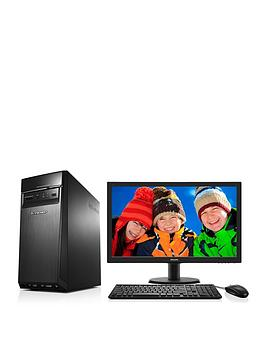 lenovo-300-intelreg-coretrade-i5-processor-8gb-ram-2tb-hard-drive-desktop-base-unit-with-236-inch-monitor-and-optional-1-years-subscription-to-microsoft-office-365-personal-black