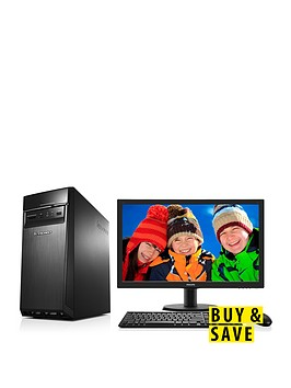 lenovo-300-intelreg-coretrade-i5-processor-8gb-ram-2tb-hard-drive-desktop-base-unit-with-236-inch-monitor-and-optional-1-years-subscription-to-microsoft-office-365-personal-black