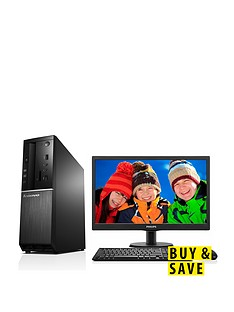 lenovo-300s-intelreg-celeronreg-processor-4gb-ram-500gb-hard-drive-desktop-base-unit-with-185-inch-monitor-and-optional-1-years-subscription-to-microsoft-office-365-personal