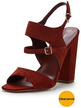 warehouse-suede-buckle-heeled-shoe