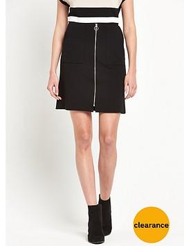 wallis-zip-front-mini-skirt