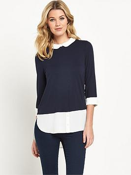 wallis-knit-shirt-hem-jumper