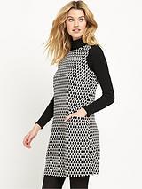 Mono Jacquard Pinny Dress