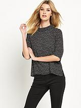 Spot Roll Neck Jumper