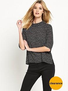wallis-spot-roll-neck-jumper